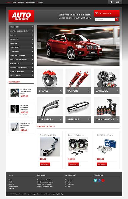 Shopify шаблон авто или мото тематики, готовый интернет-магазин за 7790 руб.