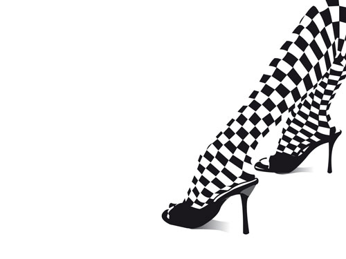 Chess Shoe vector wallpaper