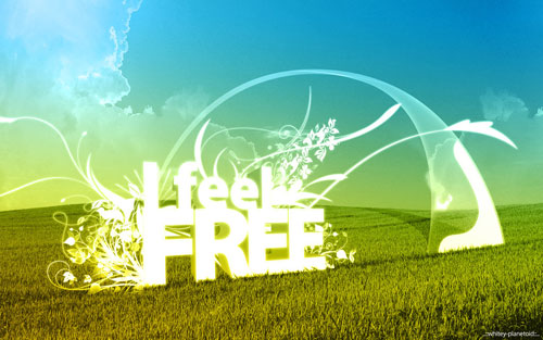 I Feel FREE vector wallpaper