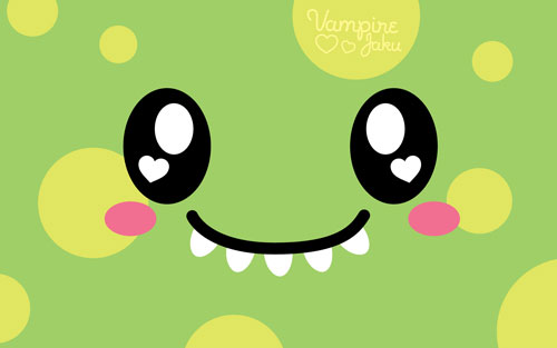Monster Face Luvs U vector wallpaper