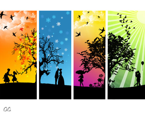 The Four Seasons - My style vector wallpaper