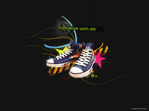 Converse with me vector wallpaper