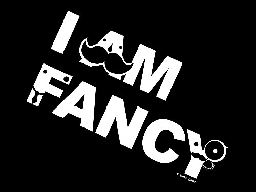 I AM FANCY shirt design vector wallpaper