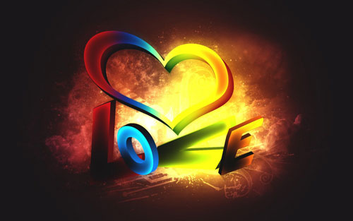 Love 3d vector wallpaper