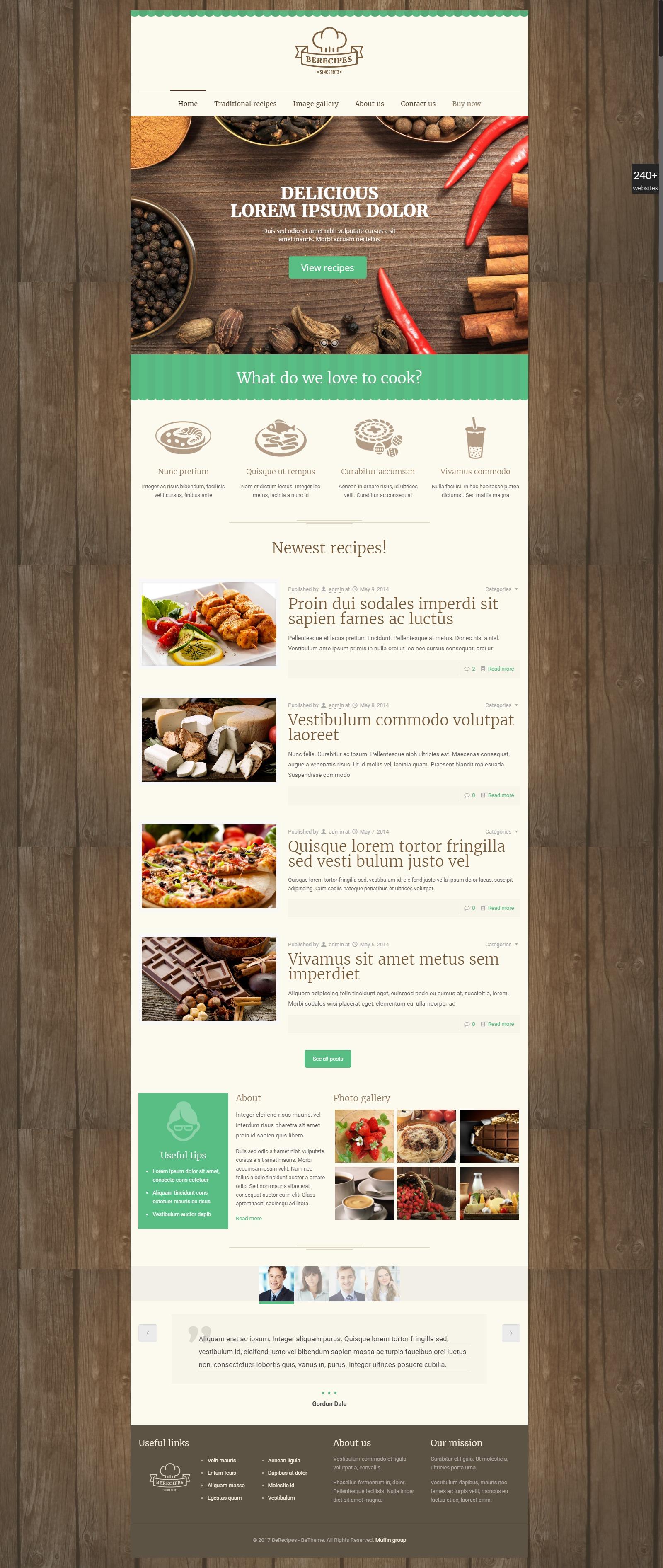 (фоторецепт) Кулинарный сайт