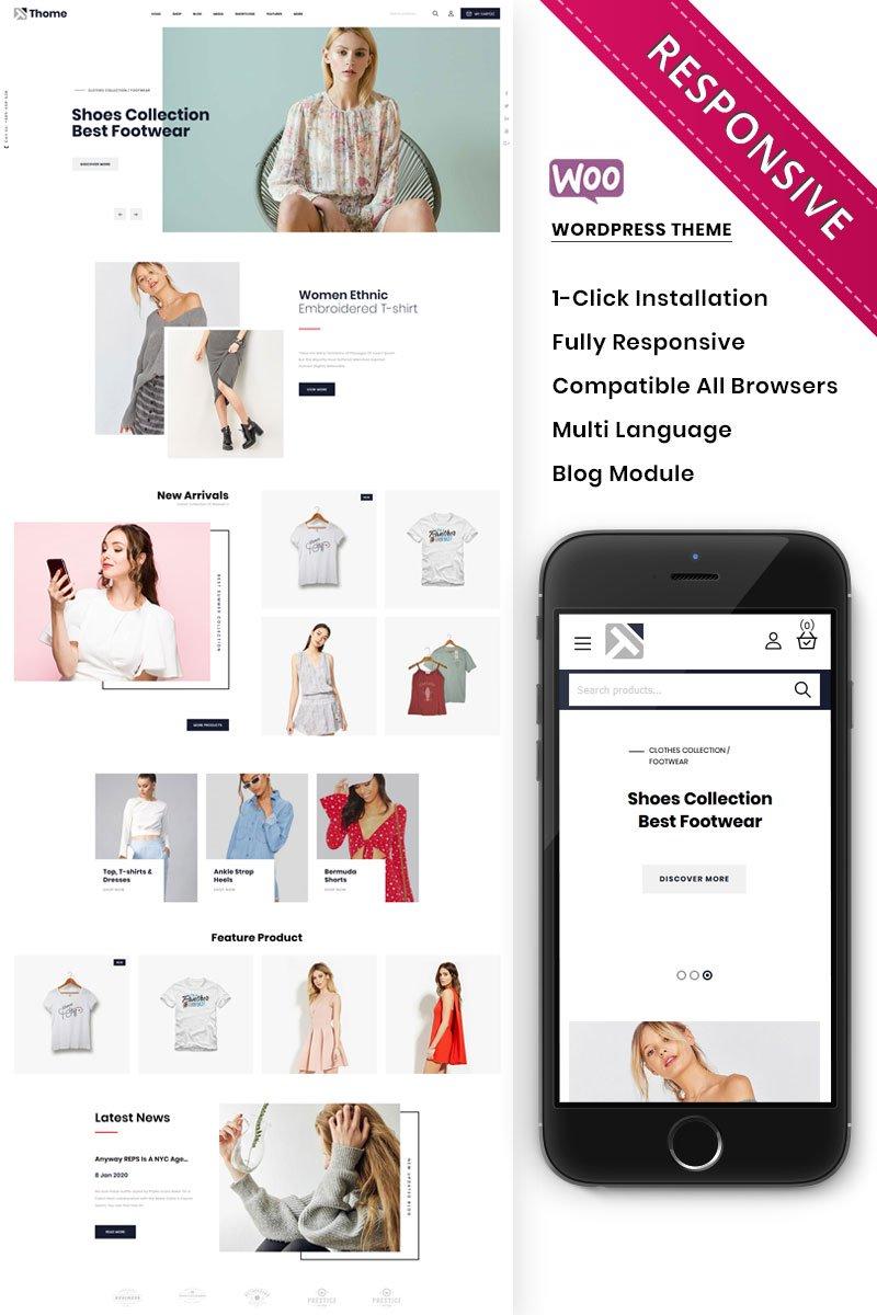 WooCommerce шаблон готовый интернет-магазин, на тему одежды, обуви или аксессуаров