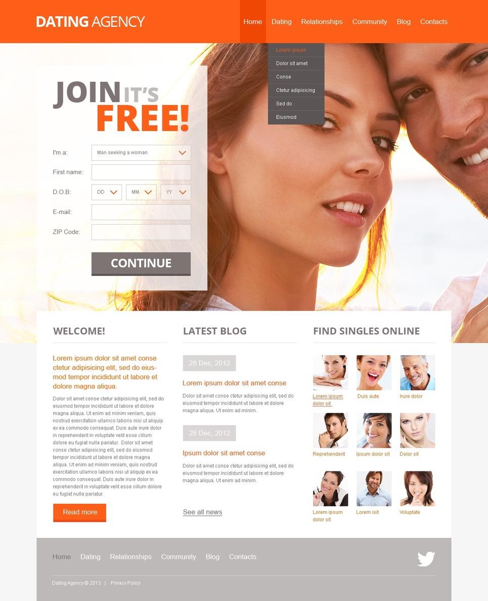 готовый дизайн сайта знакомств