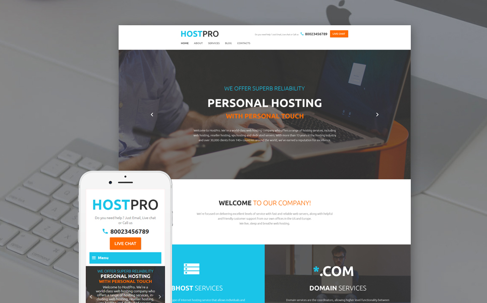 Хостинг шаблон хостинг для сайта с php и mysql