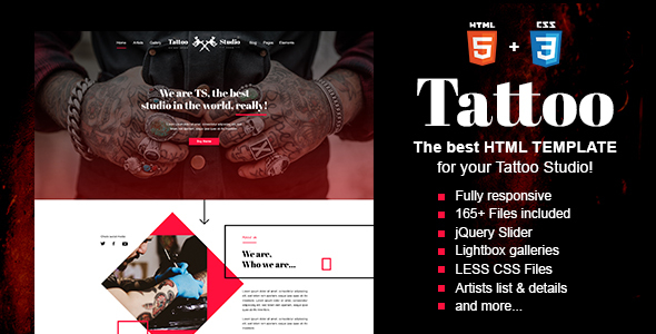 Tattoo - Tattoo Studio HTML Template