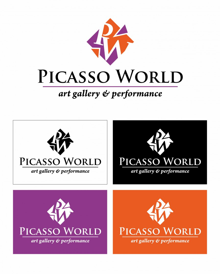 «Picasso World» Логотип для арт студии