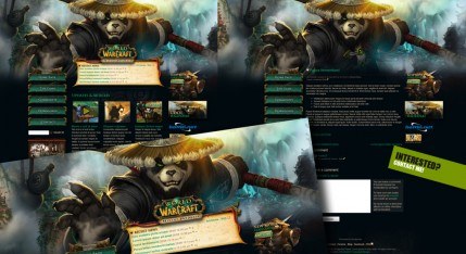 Wordpress тема World of Warcraft
