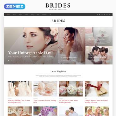 HTML шаблон свадебной тематики