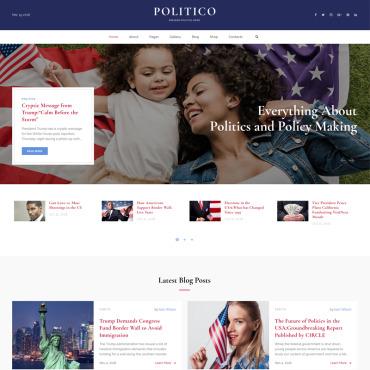 HTML шаблон на тему политики