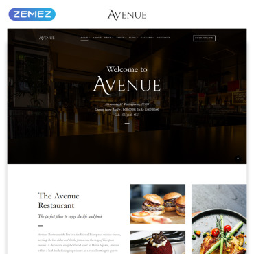 HTML шаблон для кафе или ресторана