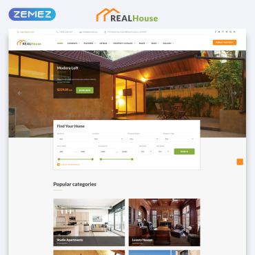 HTML шаблон для недвижимости