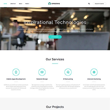 HTML шаблон по софт тематике