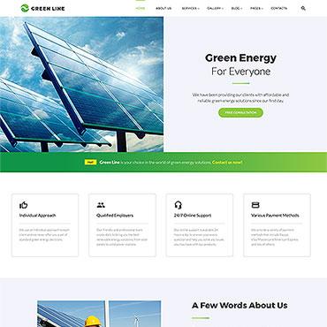 HTML шаблон альтернативная энергия