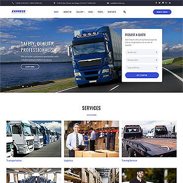 HTML шаблон для транспортной сферы