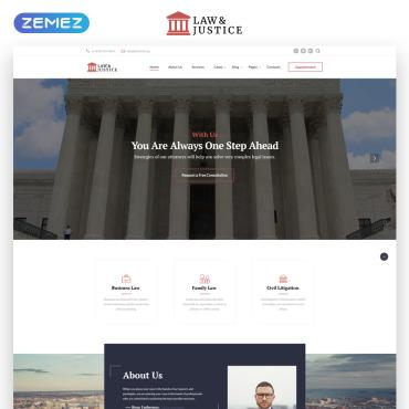 HTML шаблон для темы закона и юриспруденции