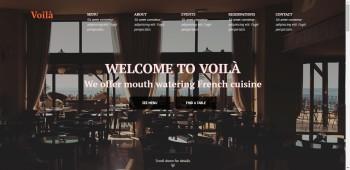 Адаптивный HTML-шаблон одностраничного сайта ресторана