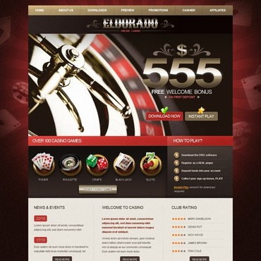 Скачать шаблон готового интернет казино игровые автоматы не на деньги а на фишки