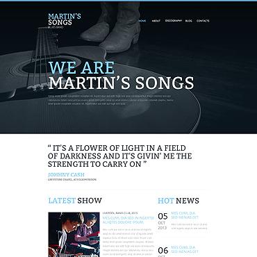 HTML шаблон для музыкальных магазинов или блогов