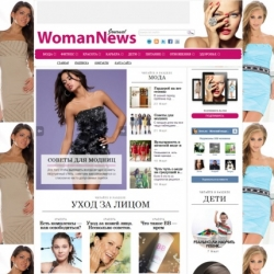 WomanNews - wordpress шаблоны QIWIT