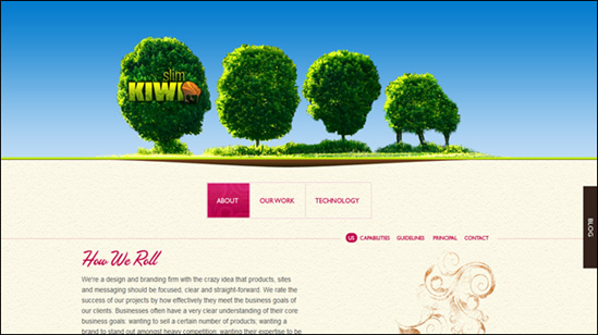 Описание: Slim Kiwi HTML5 website