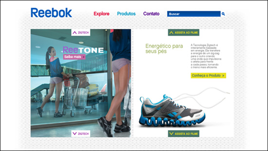 Описание: Reebok Brazil HTML5 website